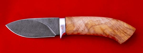 """Охотничий нож """"Лось"""", клинок дамасская сталь, рукоять кап"""