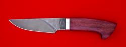 "Охотничий нож ""Рысь"", клинок сталь Х12МФ, рукоять амарант"