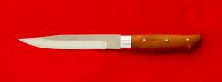 Нож Финка с сучком цельнометаллический, клинок кованый сталь У8, рукоять кусия