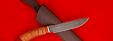 """Нож """"Рыбацкий"""", клинок дамасская сталь, рукоять береста"""