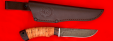 """Нож """"Грибник"""", клинок дамасская сталь, рукоять береста, с отверстием под темляк (ремешок)"""