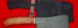 """Нож """"Тяпка"""", клинок дамасская сталь, рукоять береста"""