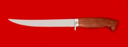 Филейный нож Судак большой, клинок сталь 65Х13, рукоять бубинга
