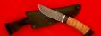 """Охотничий нож """"Грибник"""" (малый), клинок дамасская сталь, рукоять береста"""