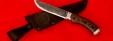 """Подарочный нож """"Грибник"""" ручная ковка, клинок сталь 9ХС, рукоять венге, мельхиор (второй вариант)"""