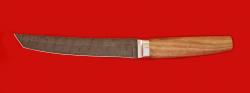 """Нож """"Самурай большой"""", клинок дамасская сталь, рукоять орех"""