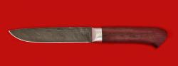 Нож Карачаевский (Бычак), клинок дамасская сталь, рукоять амарант