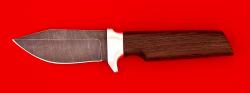 Нож Байкер, клинок дамасская сталь, рукоять венге