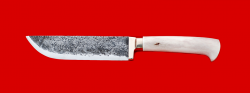 Нож Узбекский ручная ковка, клинок сталь 9ХС, рукоять лосиный рог