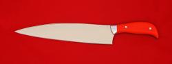 Нож Шеф-повар малый, клинок сталь 95Х18, рукоять G10 (цвет оранжевый)
