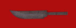 Клинок для ножа Куница, дамасская сталь