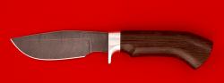 Нож Охотничий, клинок дамасская сталь, рукоять венге