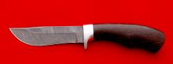 Охотничий нож Филин, клинок дамасская сталь, рукоять венге