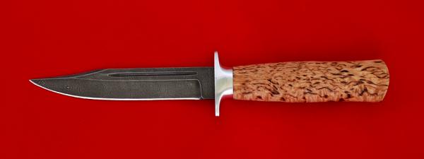 """Нож """"Разведчик"""", клинок дамасская сталь, рукоять карельская береза"""