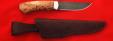 """Охотничий нож """"Бурундук"""", клинок дамасская сталь, рукоять карельская берёза"""