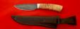 """Охотничий нож """"Соболь"""", клинок дамасская сталь, рукоять карельская берёза"""