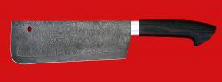 """Нож """"Тяпка мясницкая"""" удлиненная, дамасская сталь, магнум"""