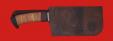 """Нож """"Тяпка мясницкая"""", дамасская сталь, рукоять береста"""