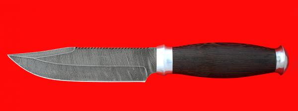 """Нож """"Выживания"""", клинок дамасская сталь, рукоять венге, с контейнером под НАЗ"""