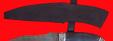 """Нож """"Пират-2"""" (вариант 2), клинок дамасская сталь, рукоять стабилизированная карельская береза (цвет черный), мельхиор"""