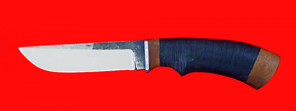 "Нож ""Грибник"", клинок сталь 95Х18 со следами ковки, рукоять кожа"