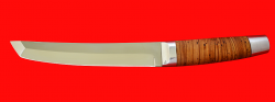 Нож Самурай большой, клинок сталь 65Х13, рукоять береста