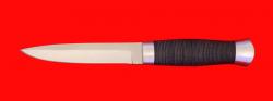 Нож Форель, клинок сталь 65Х13, рукоять кожа, металл