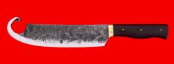 Тяпка для приготовления рубленого фарша Гимякеш клинок цельнометаллический, ручная ковка, рукоять венге