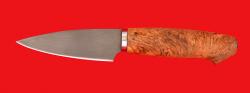 Нож Кухонный малый, клинок сталь Х12МФ, рукоять карельская берёза