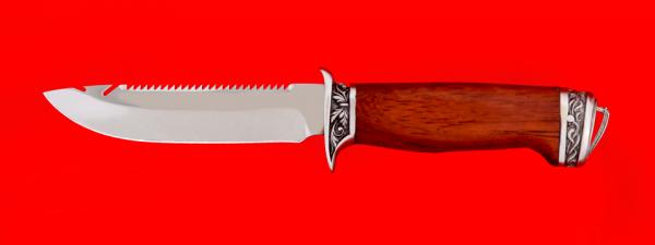 """Нож """"Рыбацкий-4"""", клинок сталь 95Х18, рукоять падук, мельхиор"""