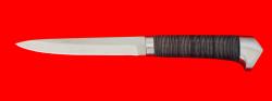 Нож Егерь, клинок сталь 65Х13, рукоять кожа, метал