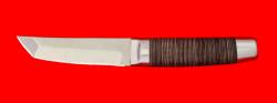 Нож Самурай малый, клинок сталь 65Х13, рукоять кожа, металл