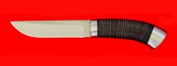Нож Олень, клинок сталь 65Х13, рукоять кожа, металл