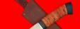 "Охотничий нож ""Сурок"", клинок сталь 65Х13, рукоять береста"