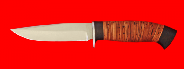 "Нож ""Сокол"", клинок сталь 65Х13, рукоять береста"