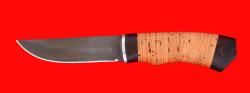 Нож Бурундук, клинок сталь Х12МФ, рукоять береста