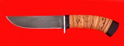 Охотничий нож Олень-2, клинок сталь Х12МФ, рукоять береста