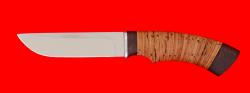 "Охотничий нож ""Грибник"", клинок сталь 65Х13, рукоять береста"