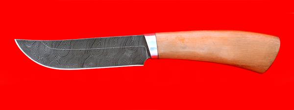 """Охотничий нож """"Куница"""", клинок из дамасской стали, рукоять маккоре"""