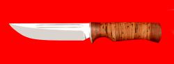 Нож Дракон, клинок сталь 65Х13, рукоять береста