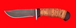 Охотничий нож Филин, клинок сталь Х12МФ, рукоять береста