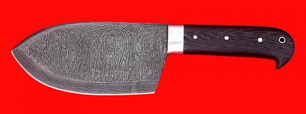 """Нож """"Тяпка старорусская"""", цельнометаллическая, клинок дамасская сталь, рукоять венге"""