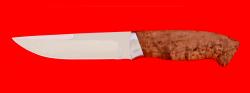 Охотничий нож Марал, клинок сталь 65Х13, рукоять карельская берёза