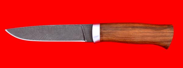 """Охотничий нож """"Леопард"""", клинок дамасская сталь, рукоять орех"""