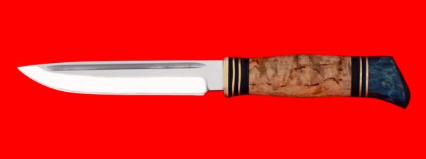 """Реплика """"Финка НКВД"""", без гарды, клинок кованая сталь 95Х18, рукоять карельская береза"""
