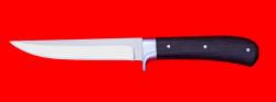 Нож Засапожный №1, цельнометаллический, клинок сталь 65Х13, рукоять венге