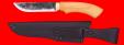 """Охотничий нож """"Грибник"""", ручная ковка, клинок сталь 9ХС, рукоять самшит"""