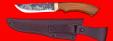"""Охотничий нож """"Грибник"""", ручная ковка, клинок сталь 9ХС, рукоять орех"""