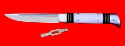 """Разборный нож """"Финка НКВД"""", клинок кованая сталь У8, рукоять лосиный рог"""