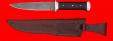 """Нож """"Гладиатор"""", цельнометаллический, клинок дамасская сталь, рукоять венге, металл"""